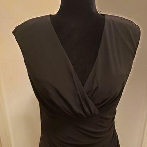 Lauren Ralph Lauren Black Faux Wrap Dress (10)